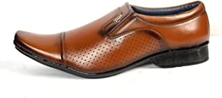 Alpha Men,s Tan Synthetic Derby Formal Shoes F06