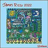 James Rizzi 2022 - Wand-Kalender - Broschüren-Kalender - 30x30 - 30x60 geöffnet - Kunst-Kalender