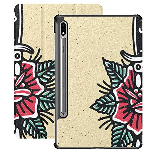 Popular Tatuaje Tradicional Flash Samsung Galaxy S7 Plus Funda para Samsung Galaxy Tab S7 / s7 Plus Fundas para Tableta Soporte Contraportada Samsung Galaxy Tab S7 Cubierta de Libro para Galaxy Tab S
