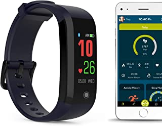 Sport Fitness Watch Designed in California. Heart Rate, Fitness, Sleep, Active Minutes and IP67 Waterproof. Beautiful Mobile app, Color Screen and USB Charging.