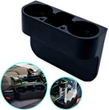 FineFun Center ConsoleOrganizer,UniversalFlexible Container/Cup Holder Console Container Center Storage Box Pocket, Interior Accessories, Car Seat Side Drop Caddy Catcher.