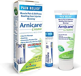 Boiron Arnicare Cream and Arnica 30c Value Pack for Pain Relief