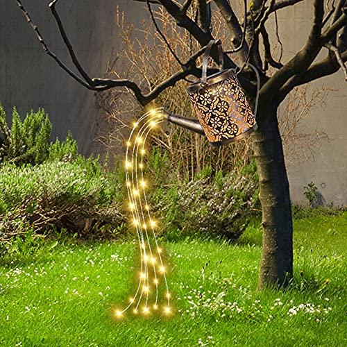 Regadera LED Star Shower Jardín Art Luz LED Regadera con cadena de luz solar exterior Decoración de jardín Luz regadera Fairy Lights Vine Solar Regadera Luces