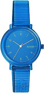 Skagen Aaren Women's Blue Dial PU Leather Analog Watch - SKW2855