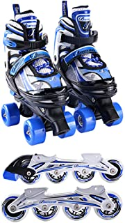 Two-In-One Skates Adjustable Roller Skates LED Comfortable Skates for Children Beginners Girls And Boys Available in Four ...