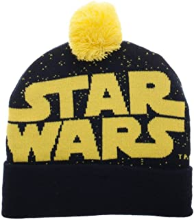 Star Wars Jaquard Logo Knit Beanie Hat Cap New Blue