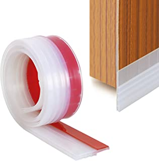 Door Draught Excluder, Door Weather Stripping, Rubber Door Draft Sweep Stopper for Door Soundproof by YOUSHARES (Transparent)