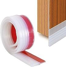 YOUSHARES Door Seal Door Draught Excluder, Door Weather Stripping, Rubber Door Draft Sweep Stopper for Soundproof and Keep Warm (Transparent)