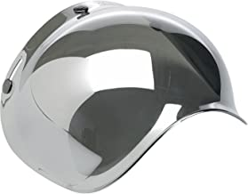 Biltwell Smoke Tint Bubble Shield (Chrome Mirror, One Size)