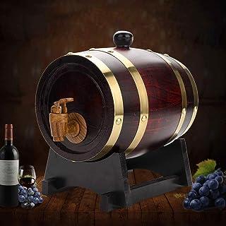 HWhome Accessoires De Décoration De Tonneaux De Vin 10L Tonneau de chêne, Vin de chêne Vintage Distributeur de vin Bière e...