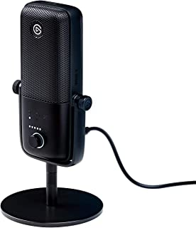 Elgato Wave:3, Premium USB Condenser Microphone and Digital Mixing Solution, Anti-Clipping Technology, Capacitive Mute, St...