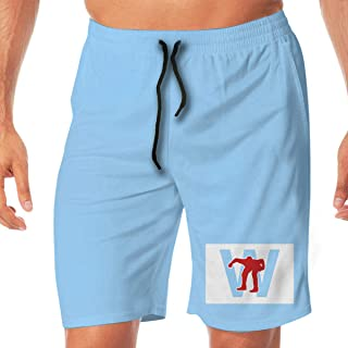 Men's Swim Trunks Quick Dry Blue Chicago Kimbrel W Surfing Beach Board Shorts with Two Pockets