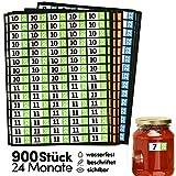 900 Haltbarkeitsdatum Etiketten für Lebensmittel, Medikamente, 24 Monate. Vorratshaltung, Lebensmittelvorräte, Küchenhilfe. Gut sichtbar, groß, selbstklebend, wasserfest, beschriftet. Junio NEXT