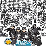 Minifigures Armor and Guns Accessories Pack 12 Distinct Outfits Compatible with Lego Swat Police Minifigures