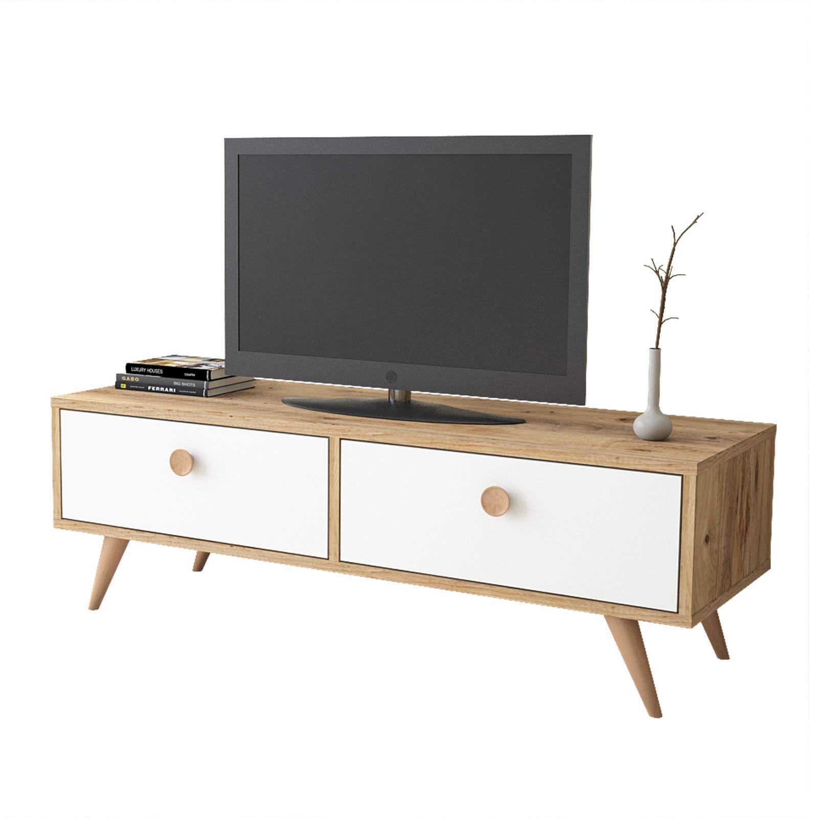 Yurupa Inamor Mueble para TV, Televisor Mesa de televisión con 1 Estante, con 2 cajones, Textura de Madera IN2-211: Amazon.es: Hogar