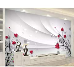 Wallpaper Murals Custom Wallpaper Beautiful Hd Hand-Painted Line Drawing Flowers Modern Minimalist Tv Background Walls 3D Wallpaper,350x250cm