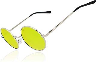bc4b908052a Ronsou Lennon Style Vintage Round Polarized Sunglasses Eyewear with Mirrored  or Plain Lens