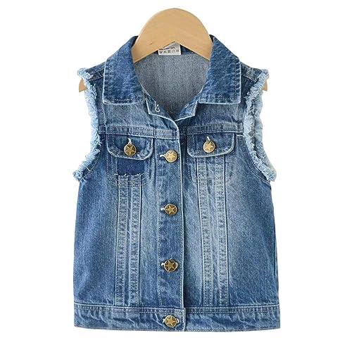 565b9de0d9860 Baby Boys  Basic Denim Jacket Button Down Jeans Jacket Top