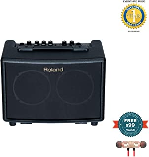 Roland AC-33 Acoustic Chorus Guitar Amplifier Black includes Free Wireless Earbuds - Stereo Bluetooth In-ear and 1 Year Everything Music Extended Warranty