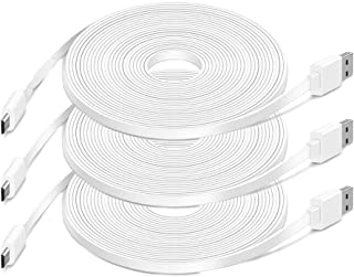 3 Pack 20FT Power Extension Cable for Security Camera, Charging Cable Compatible with WyzeCam, Yi Camera, Wyze Cam Pan, Ne...