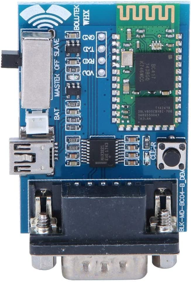 Gancon Mini USB Adaptador en Serie Bluetooth Módulo de comunicación Maestro-Esclavo 5V, Modelo RS232