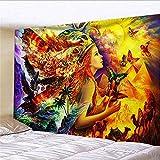 Wandteppich Aesthetic Schönheit Schmetterling Adler Schwan Tapisserie wandtuch Wandteppich für Wohnzimmer Schlafzimmer Bettdecke Strandtuch Tagesdecke Dekor 150x130cm