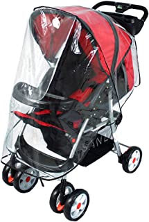 Baby Waterproof Stroller Weather Shield Rain Cover,White
