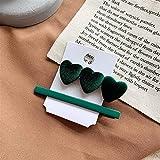 NLJYSH 1 Jeu de Pinces à Cheveux Style Tiare Filles Outils Accessoires (Color : 02 Green)