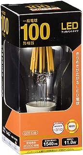 オーム電機 LED電球 フィラメント 一般電球形 E26 100W形相当 クリア 電球色 全方向 LDA12L C6 06-3464 OHM