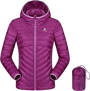 Women's Lightweight Hooded Down Jacket Packable Puffer Insulated Coats