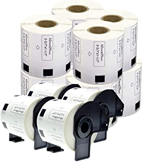 "enKo [12 Rolls/Continuous Labels] Compatible Brother DK1209 (1-1/7 x 2-3/7"")"