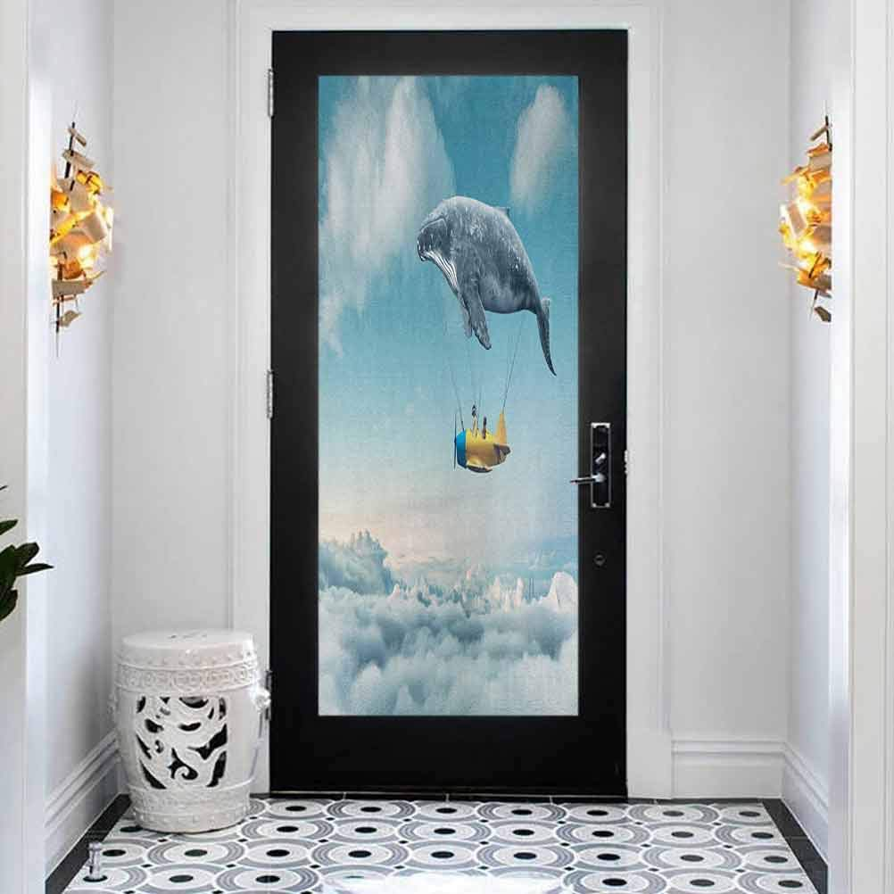 3D Sale Special Price Door Mural Bubble Free Sticker Ranking TOP5 Dreamy Whale View of an