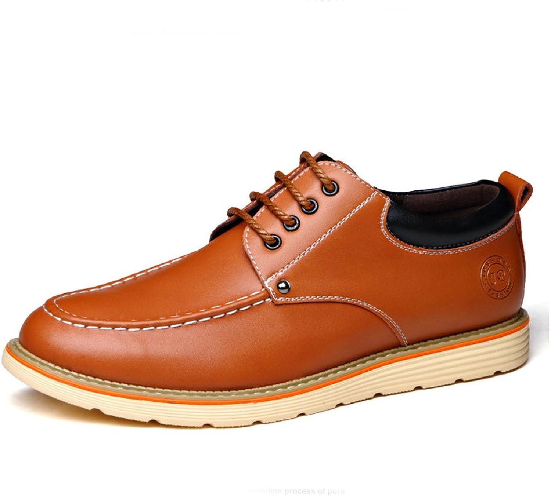 Herren Chelsea Schuhe Britisch Stil Rutschfest Gummi Sohle Elegant Derby Derby Derby Leichte Schnürhalbschuhe  ae3476