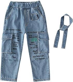 HOSD2019 Nuevo Chaofan Pantalones para niños Pantalones de otoño para niños en Las Hondas para niños Grandes Letras Jeans ...