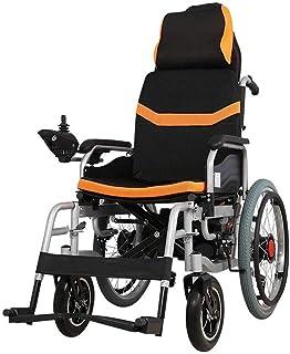 Inicio Accesorios Silla de ruedas eléctrica plegable para personas mayores con discapacidad Silla eléctrica de servicio pesado con reposacabezas y reposabrazos Conmutación manual / eléctrica Marco