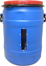 Blue High Density Polyethylene Open Head, 30 Gallon Capacity, 20