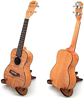 23-Inch Ukulele, Ukelele Guitar with Wooden Scaffold, Tiger Oguman Wood Ukele Uke 4 String Hawaii Guitar Concert for Begin...