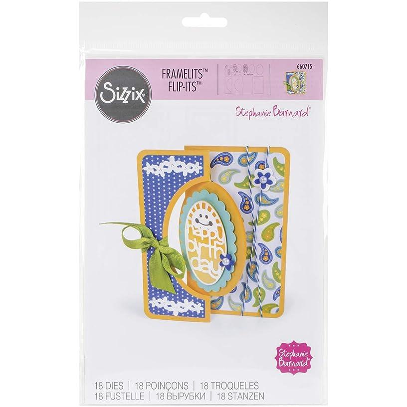 Sizzix 660715 Framelits Die Set Card, Scallop Oval Flip-Its, 18/Pack