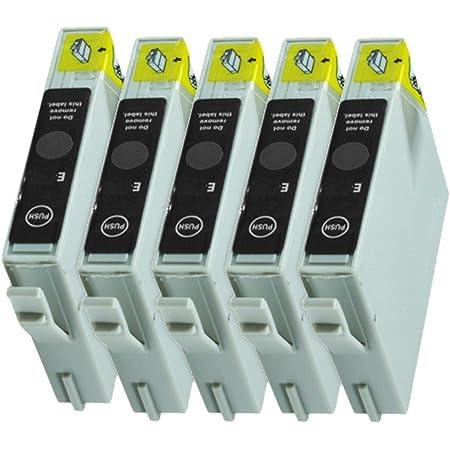 5 Druckerpatronen Tinte Für Epson Stylus D68 D88 Dx3800 Dx3850 Dx4800 Dx4200 Ersetzen T0611 Bürobedarf Schreibwaren