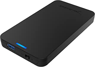 Sabrent 2.5-Inch SATA to USB 3.0 Tool-Free External Hard Drive Enclosure [Optimized for SSD, Support UASP SATA III] Black (EC-UASP)