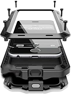 iPhone 8 Plus/7 Plus Case,Marrkey 360 Full Body Protective Cover Heavy Duty Shockproof [Tough Armour] Aluminum Metal Case with Built-in Screen Protector for iPhone 7 Plus/8 Plus - Black