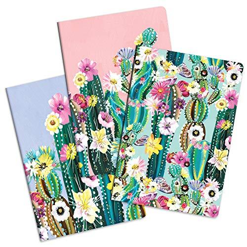 Studio Oh! Notizbuch Trio von Studio Oh! – 3er-Set – Desert Blossoms – 14,6 cm × 21 cm – 3 aufeinander abgestimmte Karton-Designs – 80 linierte Seiten – für Schule, Arbeit und Zuhause