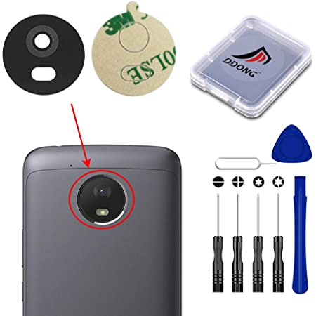 2PCS for US Cellular Motorola Moto E4 Plus XT1775 Rear Back Camera Lens Glass Cover with Adhesive Tools Replacement
