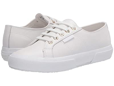 Superga 2750 Nappaleau Sneaker (White/Gold) Women