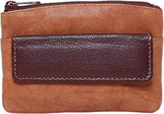 Laveri Small Wallet for Unisex - Leather, Dark Brown and Tan