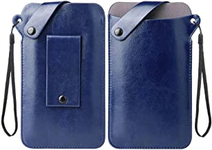 DFV mobile - Holder Ultra Lightweight Belt Case with Snap Fastener for Alcatel One Touch Flash OT-6042D - Blue