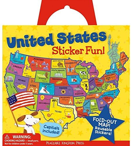 Peaceable Kingdom Press Award Winning Sticker Fun! United States Reusable Sticker Tote