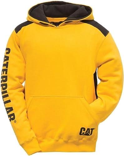 Caterpillar Pour des hommes Logo Panel encapuchonné Sweashirt sweat à capuche noir