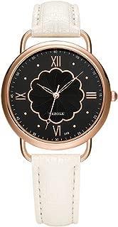 Womens Leather Watch Roman Numeral Design Fashion Casual Watches for Women Waterproof Quartz Ladies Wrist Watch