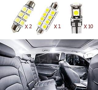 Para koleos clio LED Bombilla Luz Interior de Coche Super brillante Luces lectura coche Dome Bombilla Canbus sin errores 12V Blanco 9 Piezas